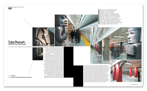 Tube Pharaoh Canada Subway Modern Design Magazine Novem