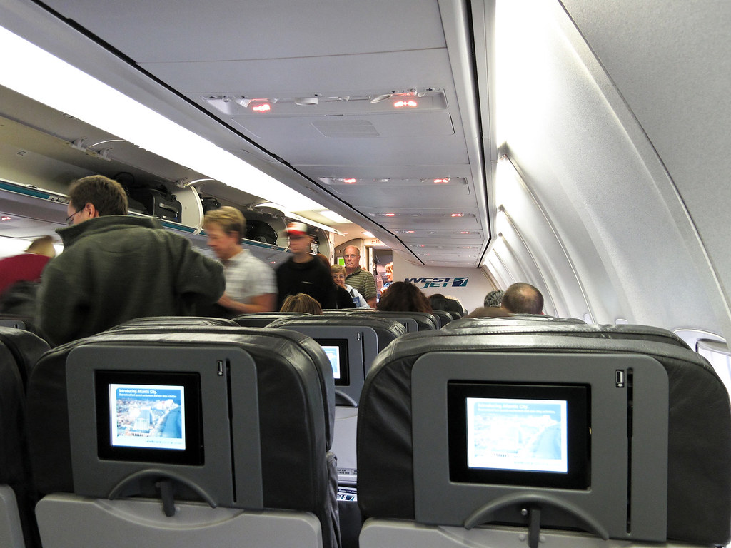 Westjet Boeing 737 Cabin  Even I can rough it in economy