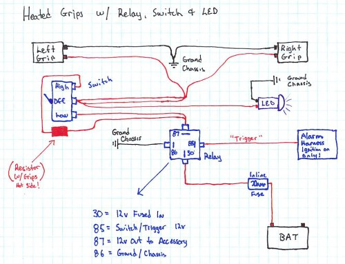 small resolution of heated grip wire diagram