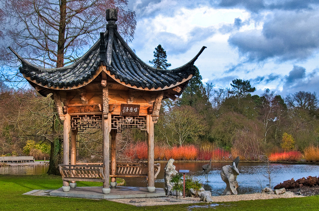 The Japanese Pagoda at the RHS Wisley gardens in Surrey
