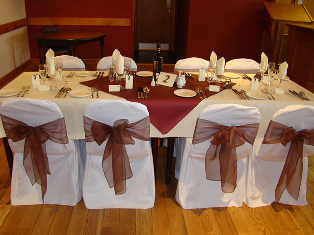 function accessories chair covers gray and white accent chairs cover with chocolate organza sash 13 jpg wedding c flickr by lincolnshire hire