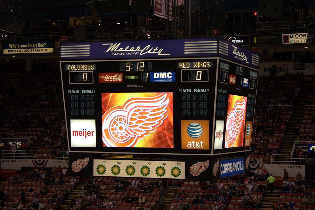 Joe Louis Arena Scoreboard Kevin Ward Flickr