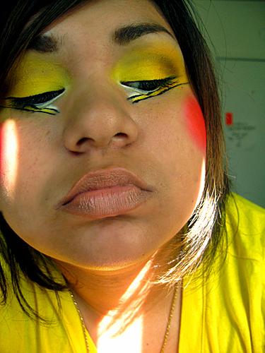 Pikachu Makeup Detail  I did pikachu makeup for a