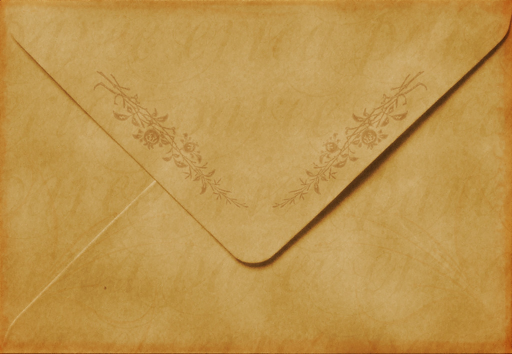 Antique Floral Envelope Handmade Texture Available