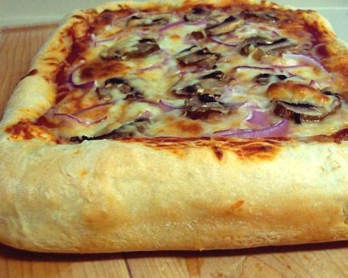 Homemade Pizza Thick Crust Making Your Own Pizza Is