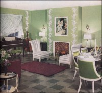 1936 Key Lime Living Room | ... by Armstrong Cork Company ...
