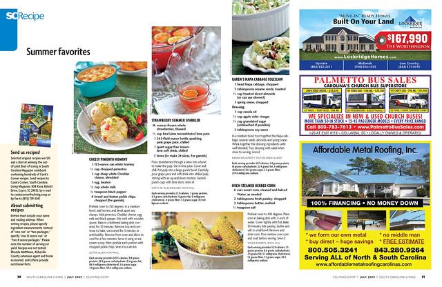 new magazine recipe layout