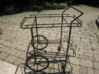 vintage beverage cart   Glass is intact, just needs paint ...