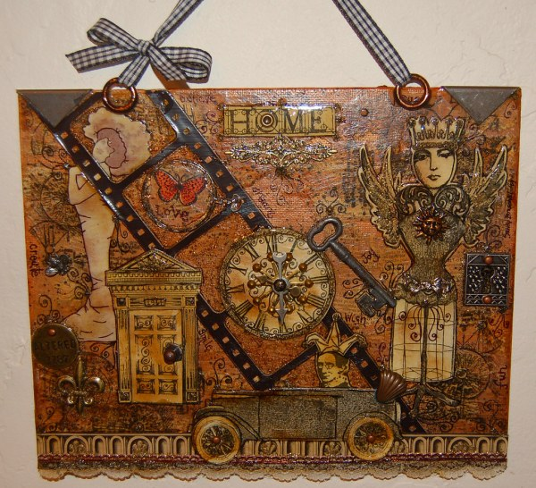'altered Home' Steampunk Wall Hanging Original Of