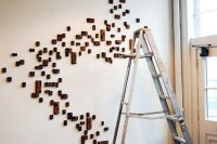 wood block wall art   I have these!   Melissa McCauley ...
