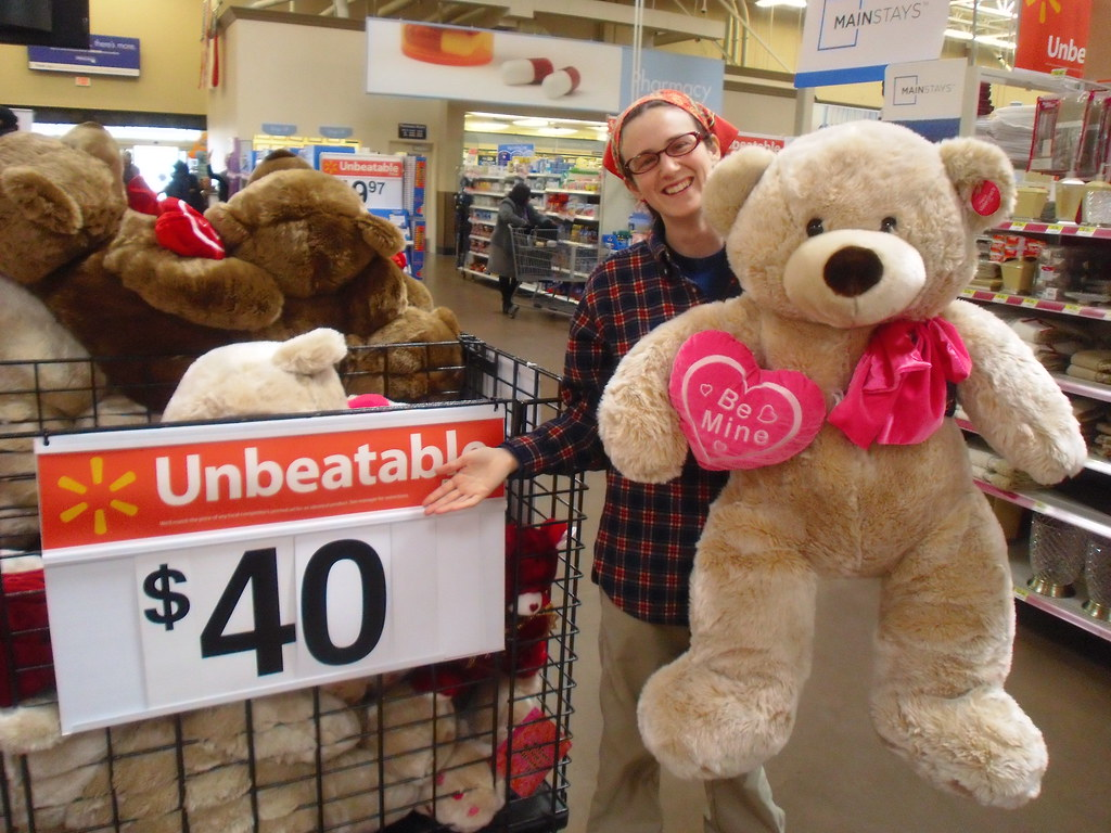 Happy Valentines Day From A Giant Over Priced Teddy Bear