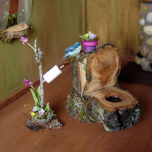 Miniature Fairy Toilet for Bathroom  This pretty little han  Flickr