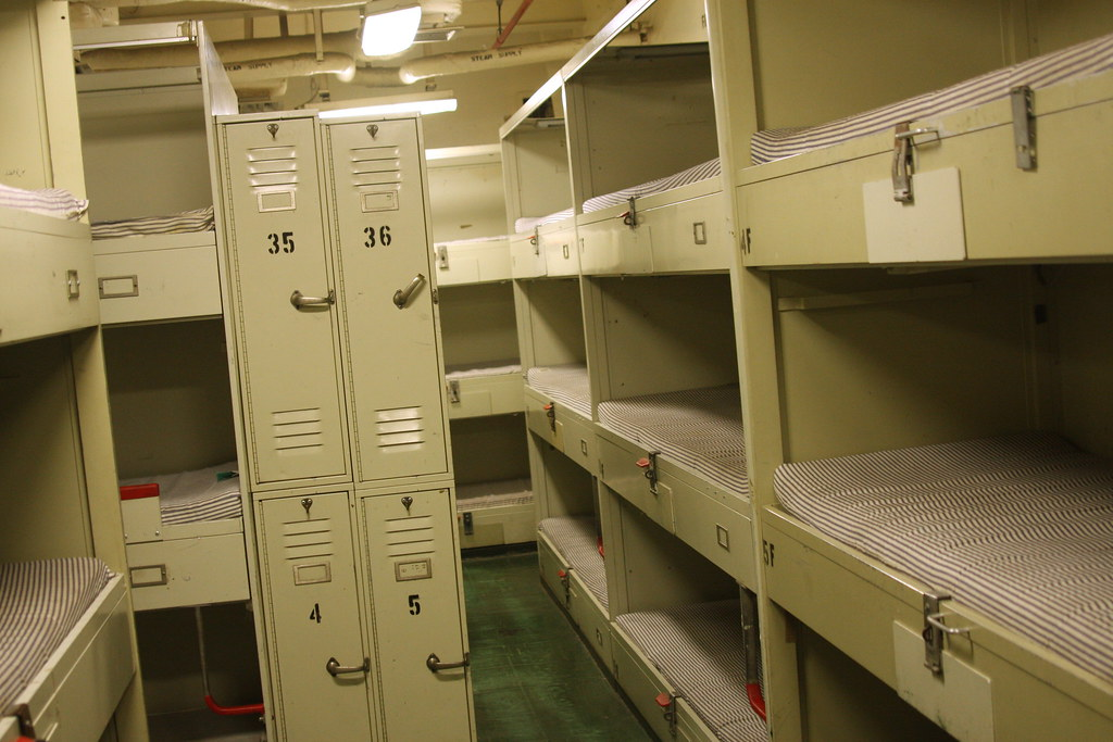 Enlisted Mens Bunks  Experience life at sea without