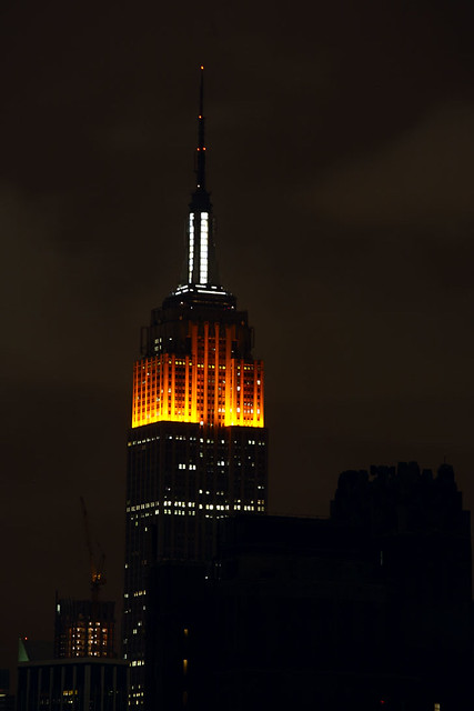 Empire State Building  Halloween colors  Empire State