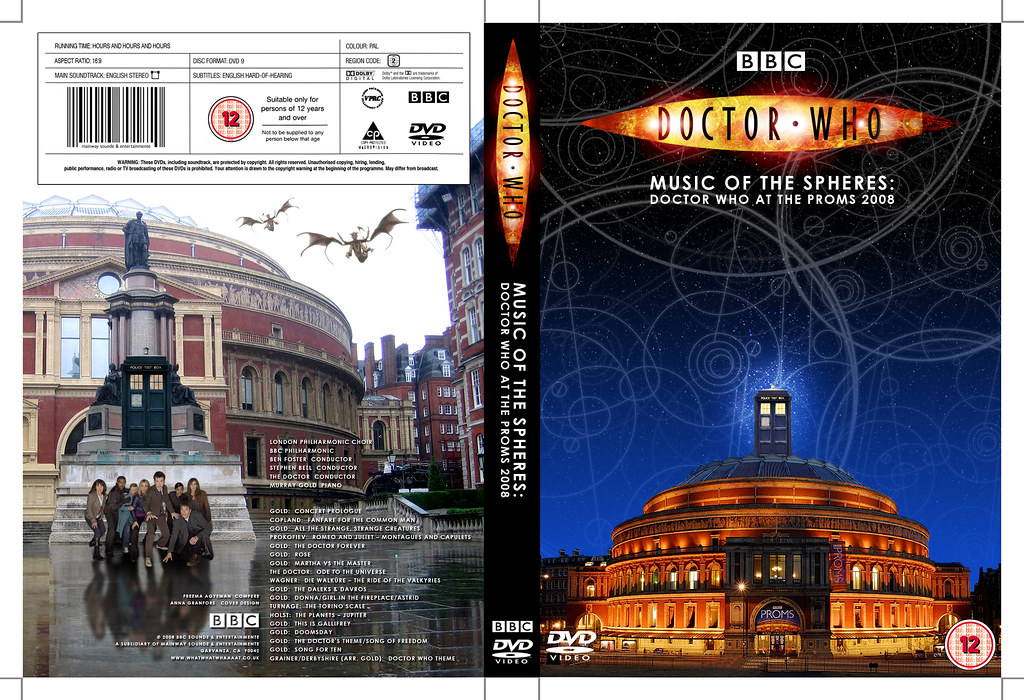 Doctor Who at the Proms DVD cover  A revision of the CD cov  Flickr
