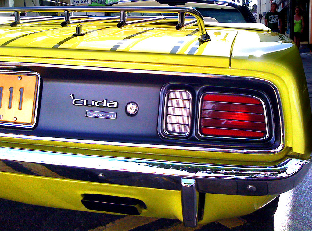 Plymouth Barracuda  Tail Lights  An early 1970s third