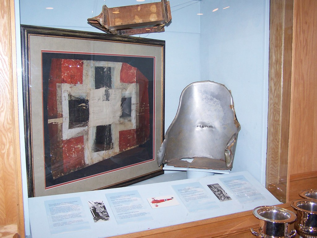 Artifacts from Red Barons Fokker biplane  The upper