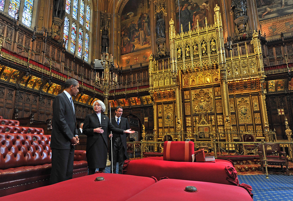 President Barack Obama in the Lords Chamber  US President