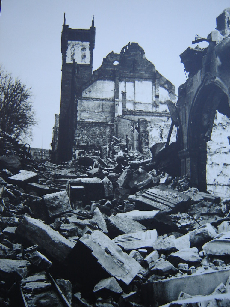 Pforzheim 1945  The bombing were made by the English The