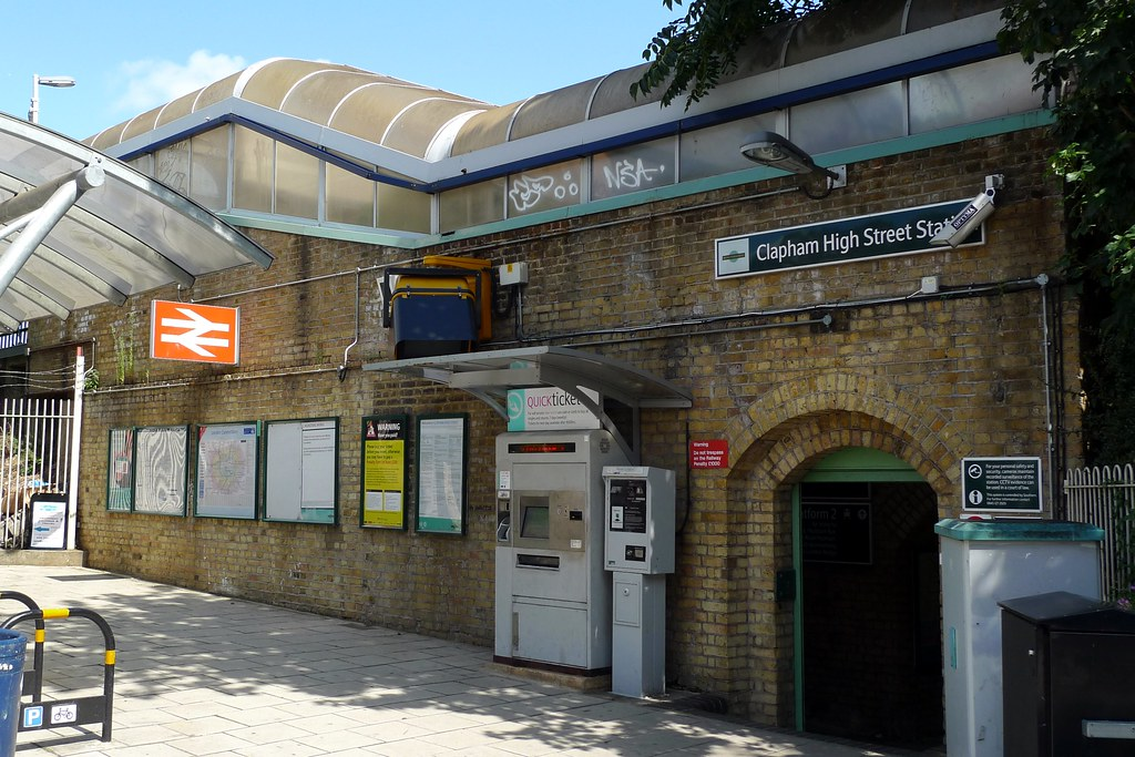 Clapham High Street station  A station on the shallow