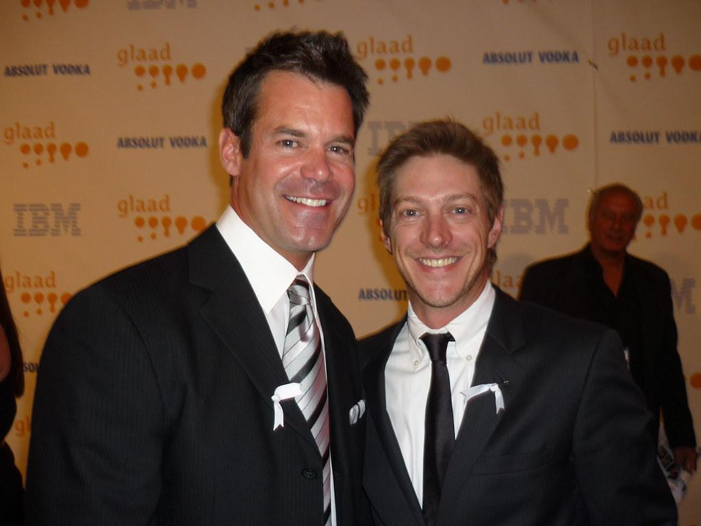 Tuc Watkins and Kevin Rahm  At the 2009 GLAAD Media
