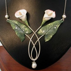 4 Wire Process Flow Diagram Examples Calla Lily Necklace | A In Silver Plated And P… Flickr