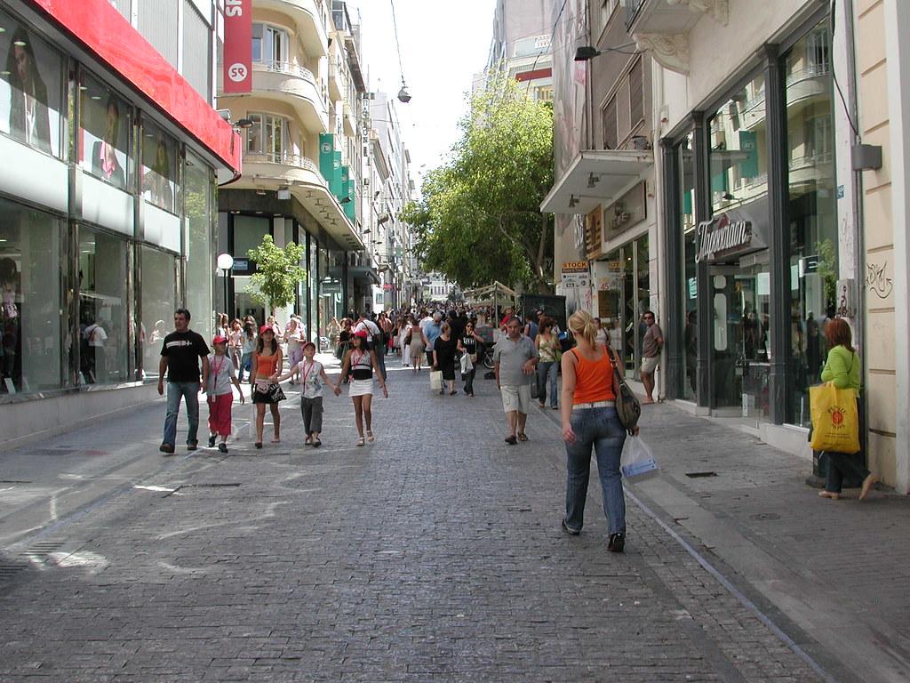 Pedestrian Street  Athens  A pedestrian street downtown At  Flickr
