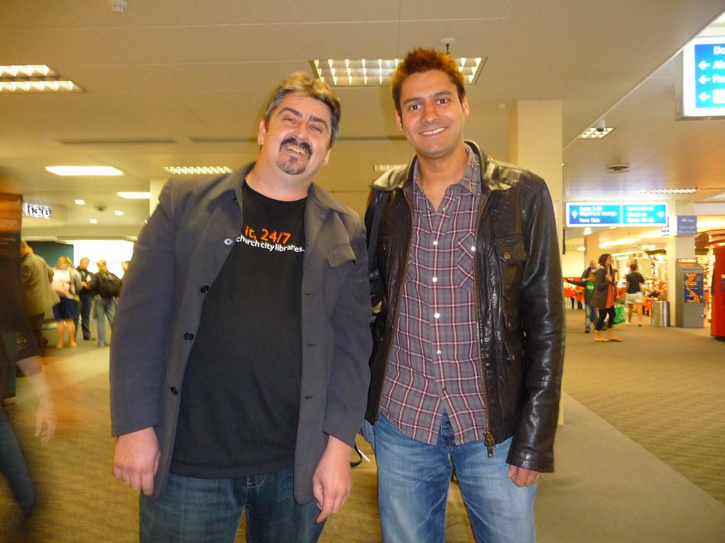 Richard Liddicoat with comedian Danny Bhoy  Auckland