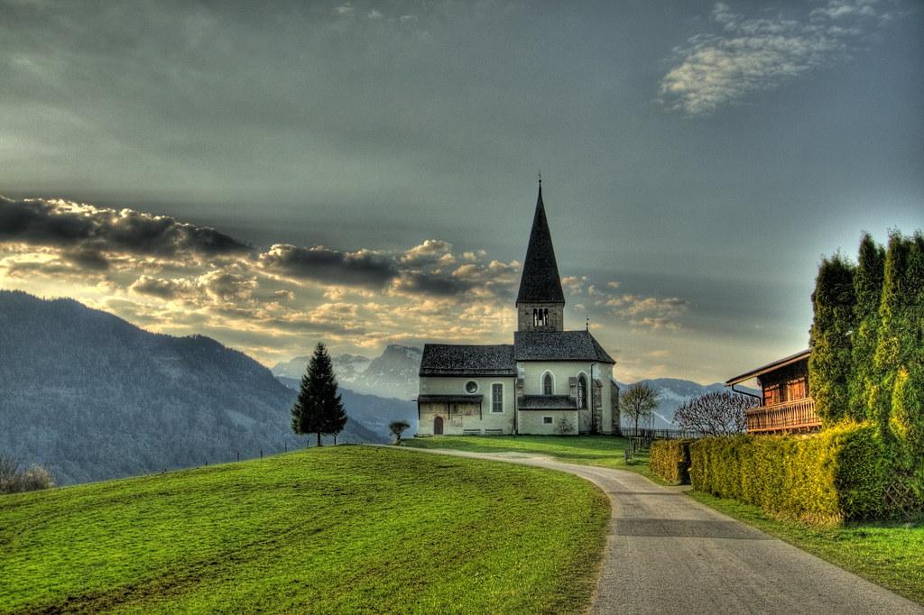 Buchbergkirche in Bischofshofen  View On Black Taken just