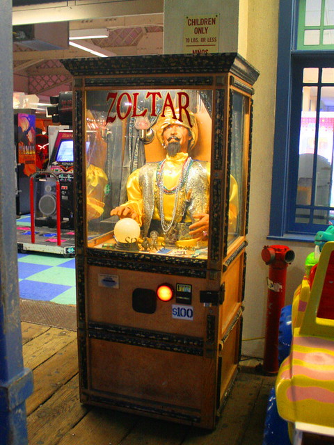 Zoltar Speaks  We found this Zoltar Speaks machine