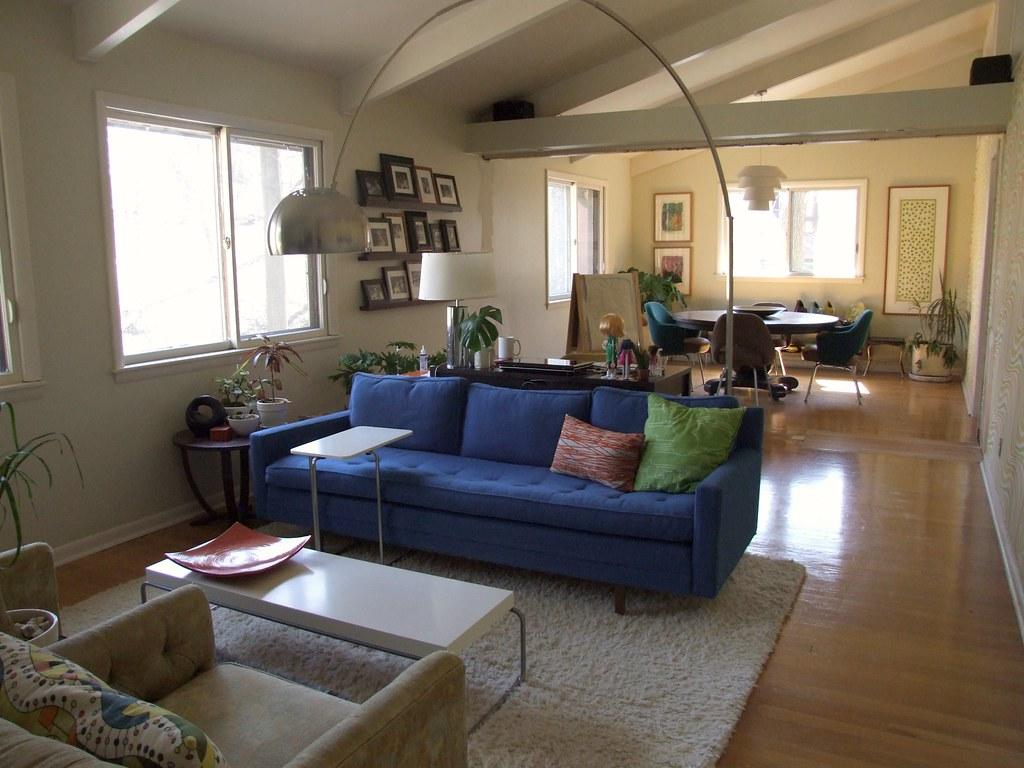 living room, my desk area, dining room