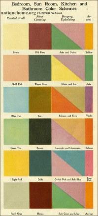 1920 Color Combinations   Bedroom, Bath, Kitchen Color ...