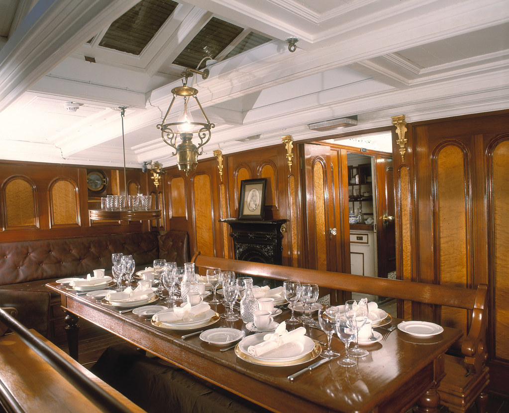 Cutty Sark  The dining room on board the famous tea