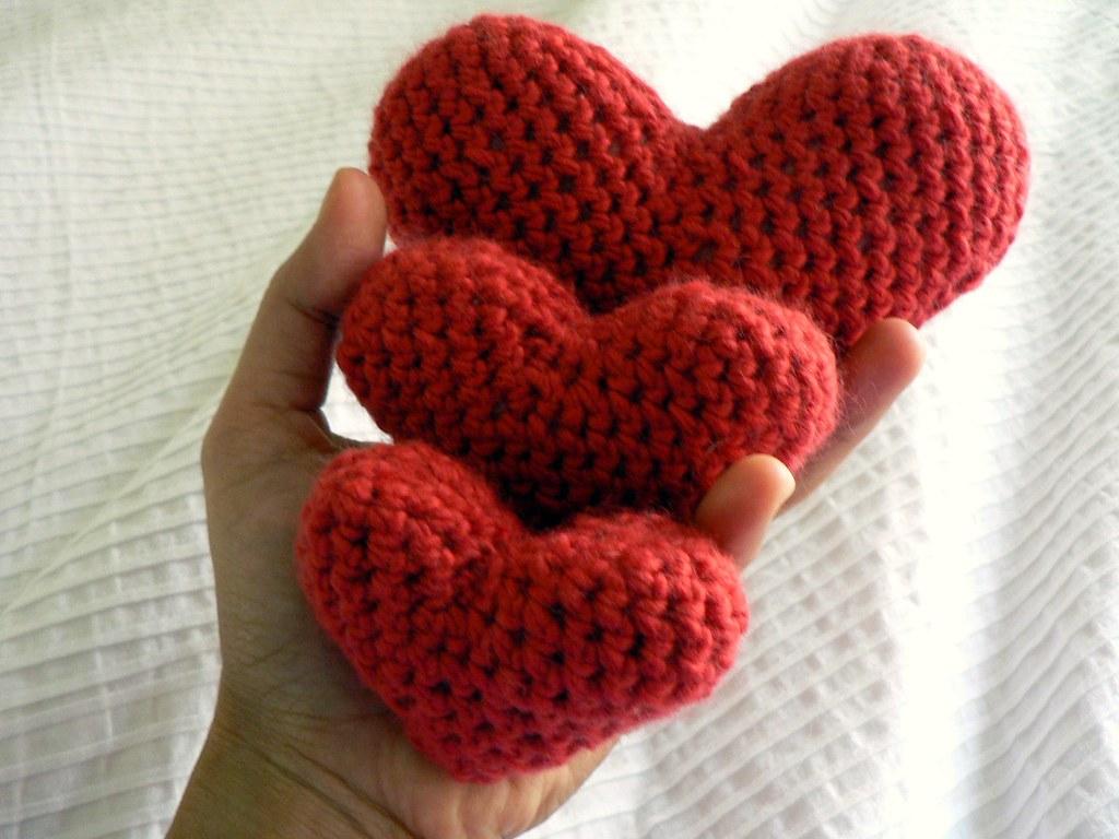 Crochet Hearts  Blogged at Salihan Crafts Free Pattern