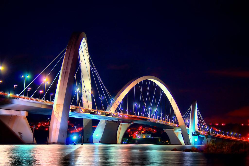 Ponte JK Brasilia  HDR  Foto retirada do HD virtual da