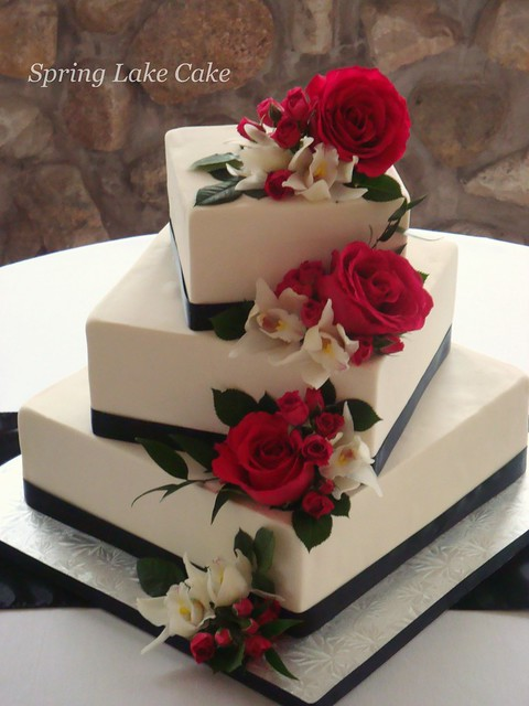 Floral cascade wedding cake  Flickr  Photo Sharing