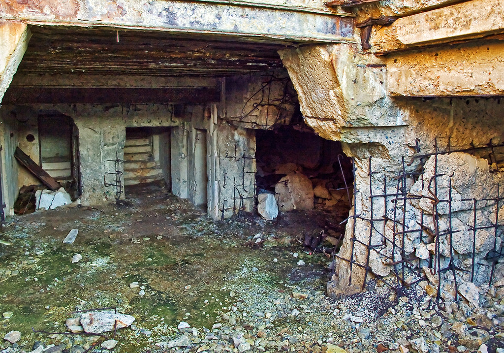 Bombed Out Nazi Bunker  Alderney  This is what happens