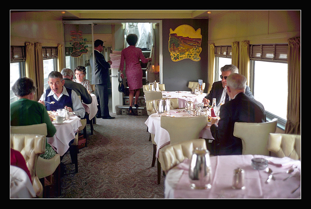 Union Pacific Dome Dining Car  1969  The Union Pacific