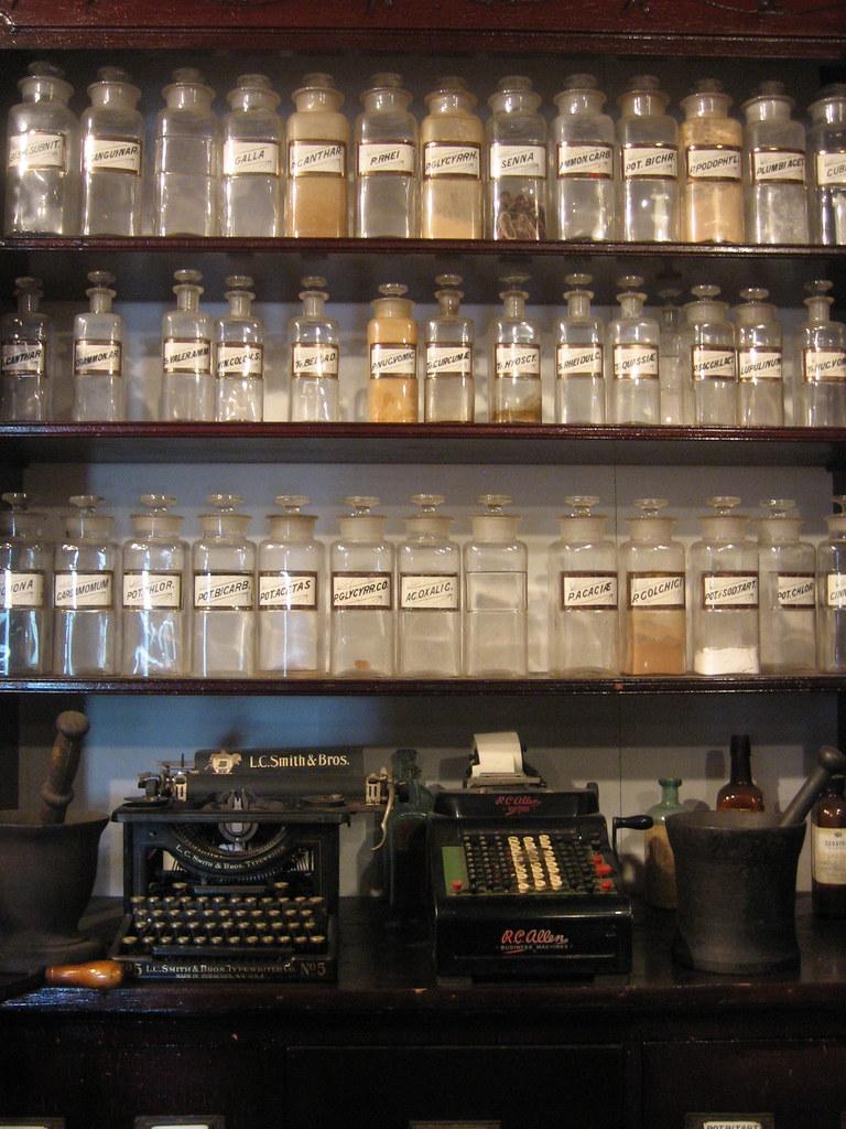 old pharmacy bottles  jessamyn west  Flickr