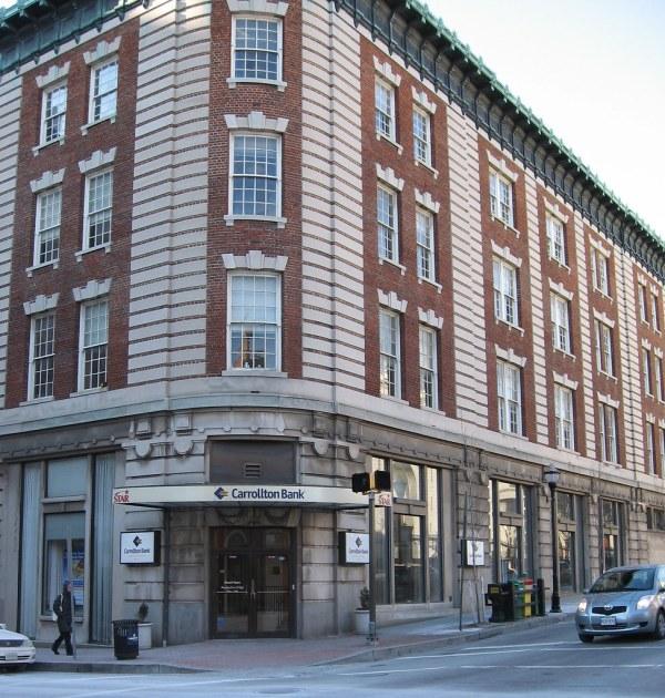 Carrollton Bank Facade - Charles & Mulberry Streets