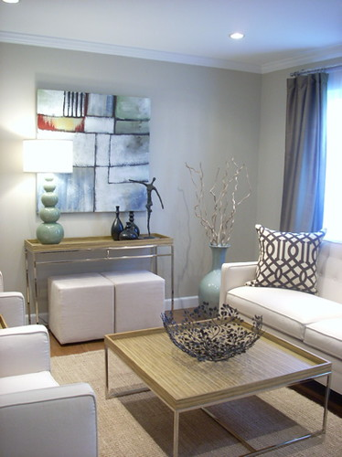 Real Homes Neutral paint color  modern affordable livi