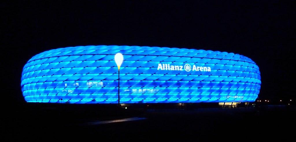 Free Hd Wallpaper Fall Allianz Arena In Munich The Allianz Arena Is A Football