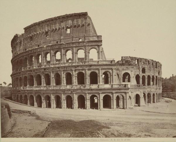 Rome. Colosseum Collection . White Architectural