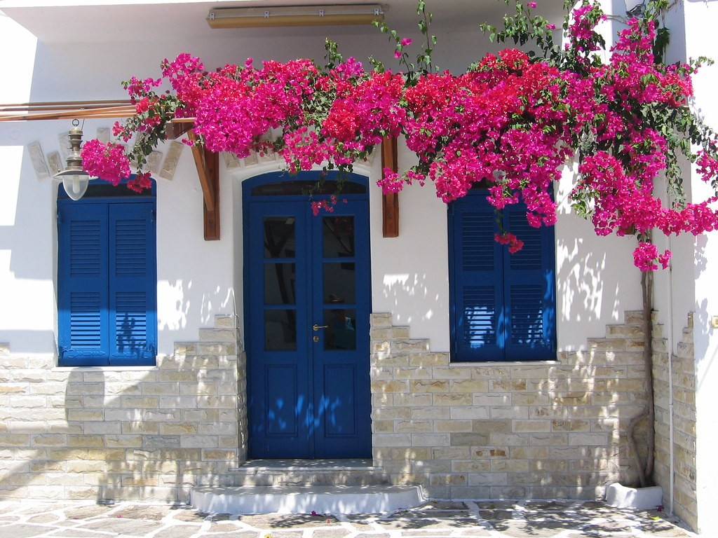 Greece  Blue Door  Peggy Baker  Flickr