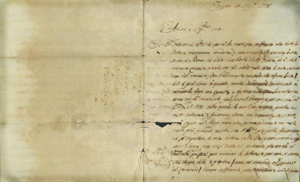 TEXTURE Original handwritten Italian letter on genuine age  Flickr
