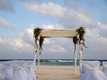 Beachfront wedding  Wedding Decorations  If You are planin  Flickr