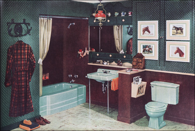 1952 Early American Bathroom  This is a colonialesque