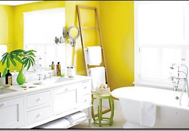 Yellow Bathroom Accents