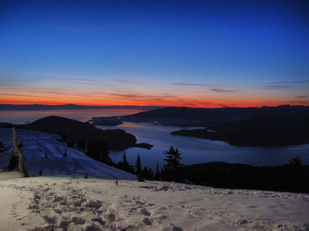 Cypress Mountain Sunset  The view of Howe Sound and the