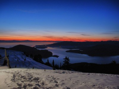 Cypress Mountain Sunset | The view of Howe Sound and the ...